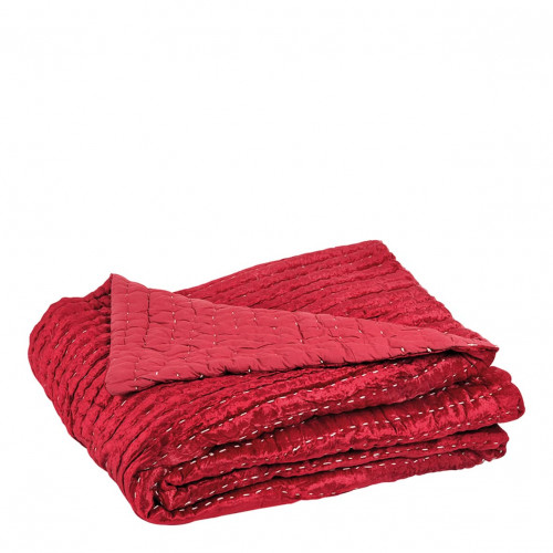 Dessus de lit NATACHA velours rouge