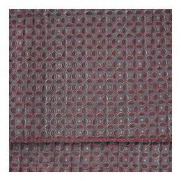 Dessus de lit SIMONETTA gris et rouge