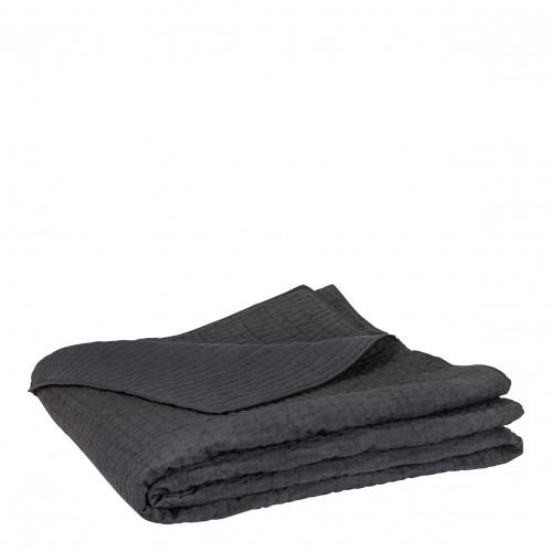 Dessus de lit GABY gris foncé - 270 x 260 cm