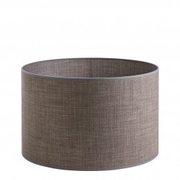 Abat-jour cylindrique taupe - Diam. 45 cm